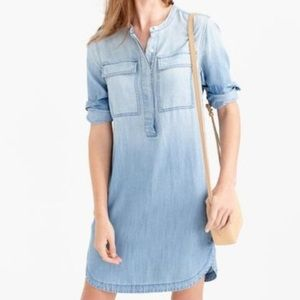 Jcrew drapey chambray dress